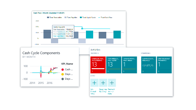 With Dynamics 365 Business Central, you get accurate reporting and Analytics
